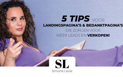 5 tips voor landingspagina's & bedanktpagina's die zorgen voor méér leads en verkopen!